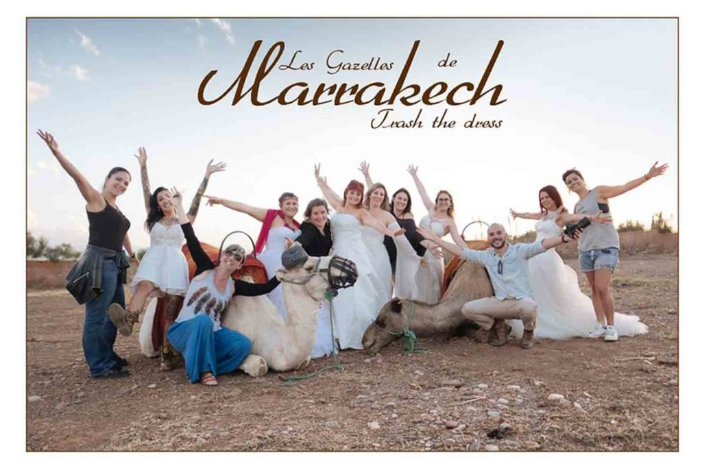 Les Gazelles de Marrakech : Trash the dress 2016