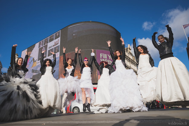 Trash the dress : réactions des Queens of London